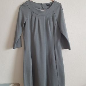 Blu Sage M Pleated Gray Dress